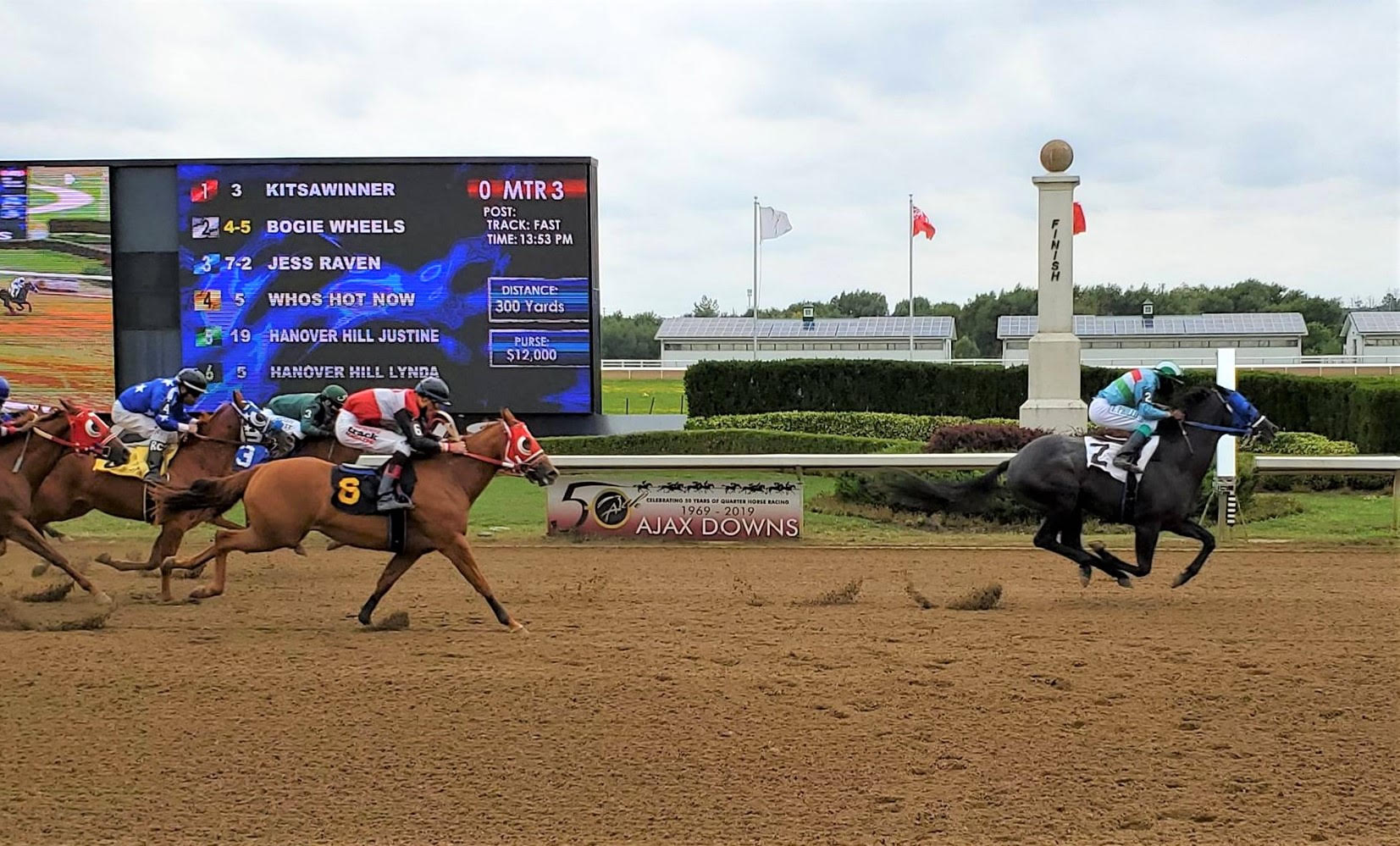 Bogie Wheels Looks to Speed Away in the $60,000 Ontario Sired Futurity Monday at Ajax Downs